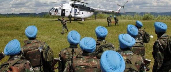 manipulation casque bleu indien bunagana