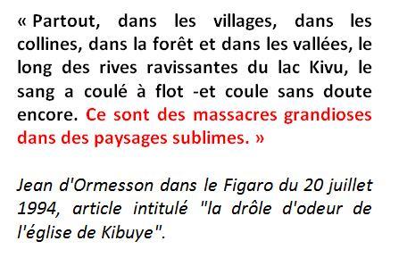 Jean d ormesson drole odeur eglise kibuye figaro du 20 juillet 1994