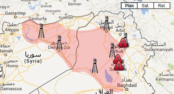 region petroliere isis irak syrie