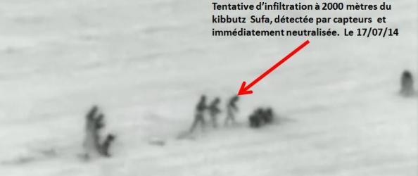 sufa infiltration gaza 17 juillet 2014