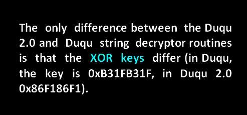 0xB31FB31F xor key duqu
