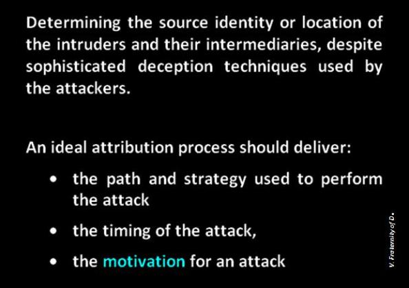 attribution definition traceback source tracking cybersleuthing forensic