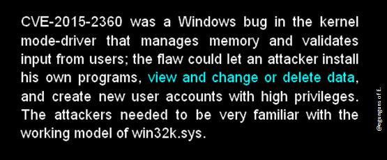 cve 2015 2360 kernel mode attack