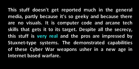 cyber war weapons