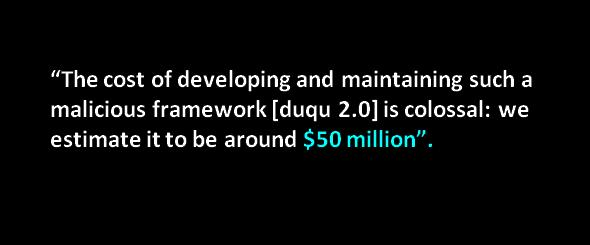 duqu 2.0 state sponsored 50 million dollars program