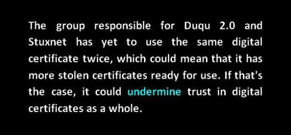 duqu 2.0 stuxnet stolen certificates