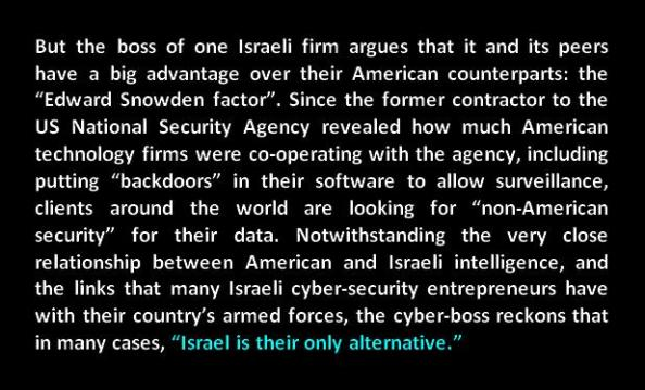 Israeli cyber security firms only alternative