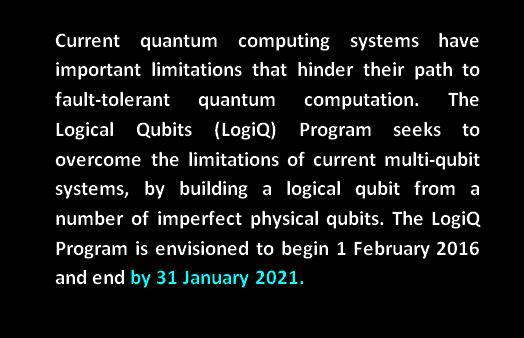 logiQ quantum computing limitations logical qubit