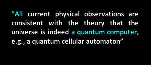 quantum computer universe