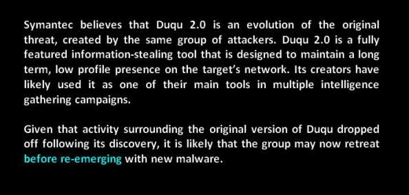 shoot look shoot duqu duqu 2.0 apt information stealing tool