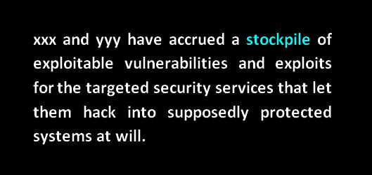 stockpile of exploitable vulnerabilities