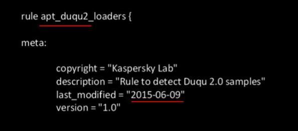 yara rules kaspersky