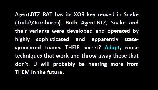 common xor ouroboros snake agent btz