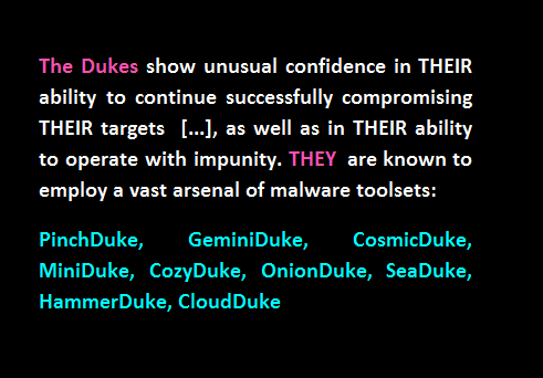 dukes cyberespionage group