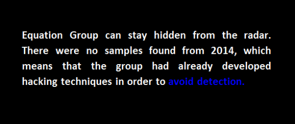 equation group avoiding detection no samples