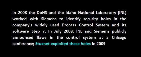 stuxnet idaho dohs process control system step 7 2008