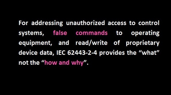 IEC 62443-2-4 what How and Why