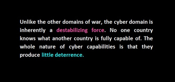 no cyber deterrence