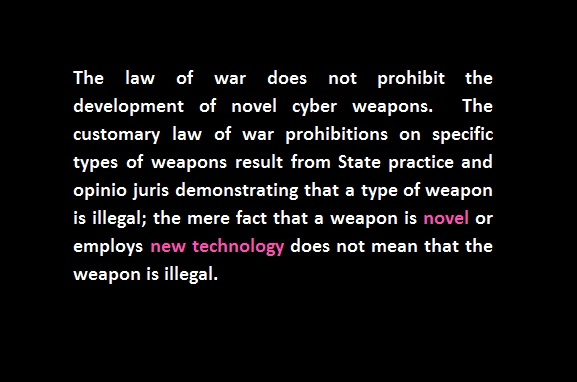 law of war novel advanced cyberweapons
