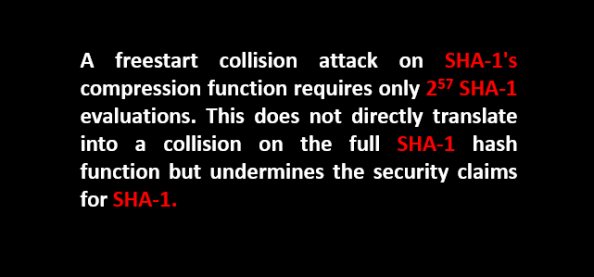 sha-1 freestart collision