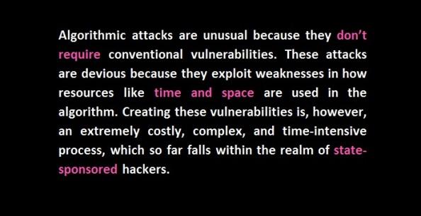 algorithmic attacks