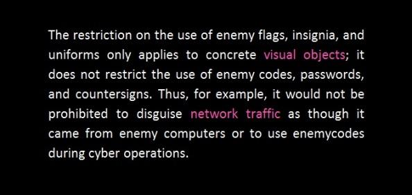cyber war improper use