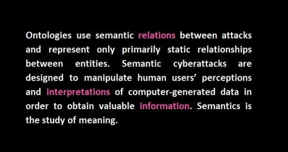 semantics cyber attack ontologies relations