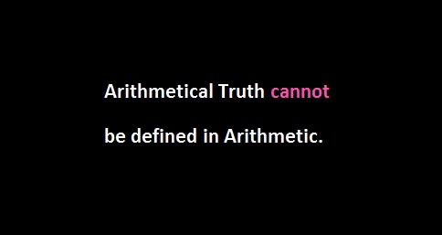 Undefinability of Truth