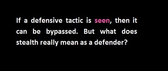 defensive tactic