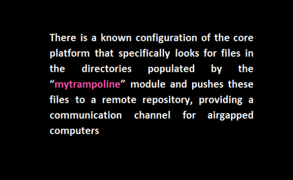mytrampoline module airgapped exfiltration